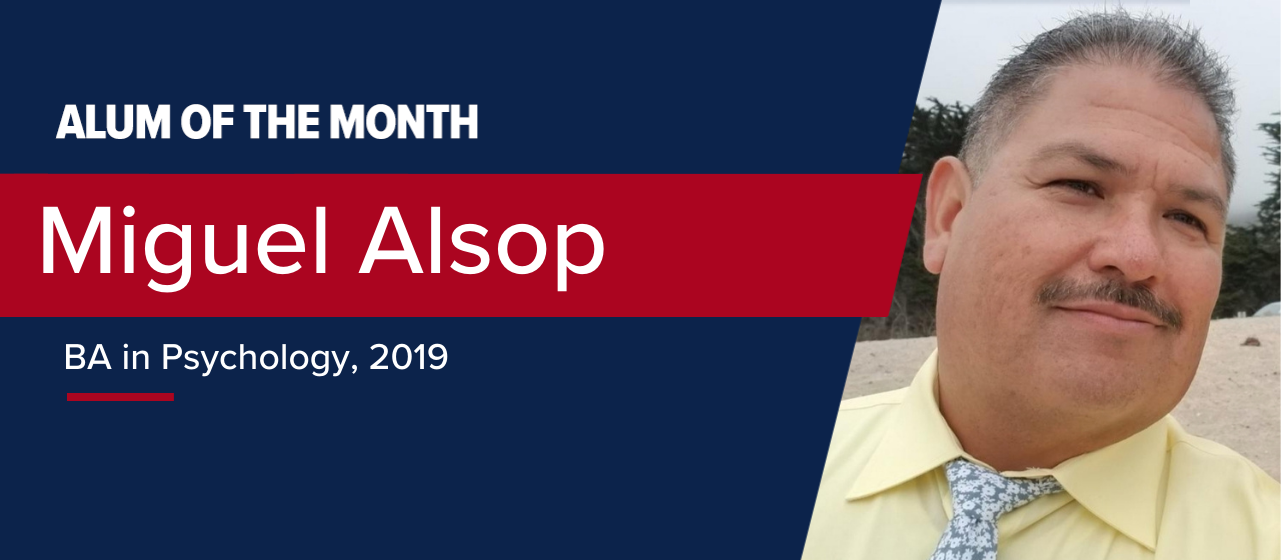 Miguel Alsop Jan 2021 Alum of the Month